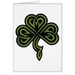 Regalo irlandés del trébol tarjeton