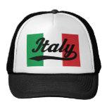 Regalo (italiano) de la bandera de Italia Gorras De Camionero