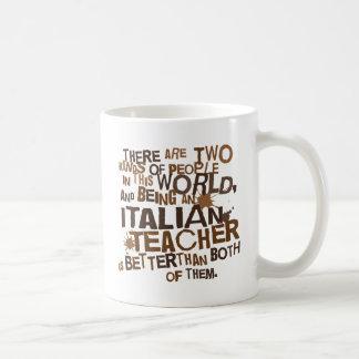 Regalo italiano del profesor taza básica blanca