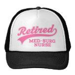 Regalo jubilado de la enfermera del MED Surg Gorras De Camionero