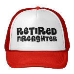 Regalo jubilado del bombero gorras de camionero