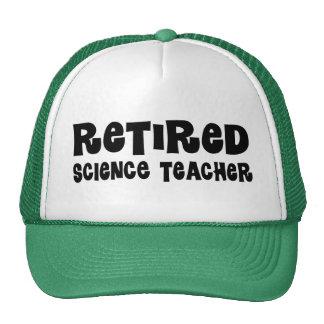 Regalo jubilado del profesor de ciencias gorro de camionero