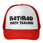 Regalo jubilado del profesor de matemáticas gorras de camionero