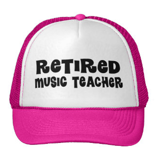 Regalo jubilado del profesor de música gorra