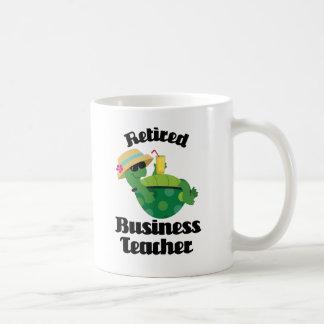 Regalo jubilado del profesor del negocio taza básica blanca