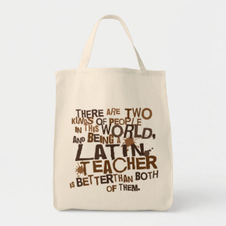 Regalo latino del profesor bolsa tela para la compra