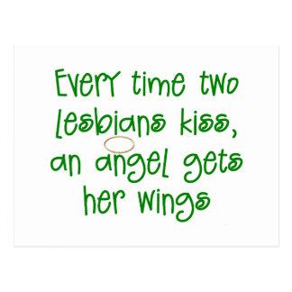 Regalo lesbiano divertido del navidad postales