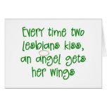 Regalo lesbiano divertido del navidad tarjetas