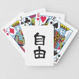 Regalo libertad black del kanji caracteres chi baraja cartas de poker
