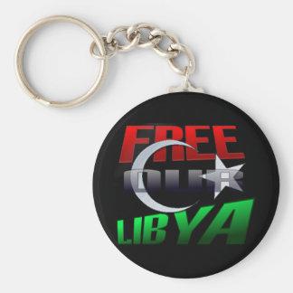 Regalo libre de Libia para los amigos y la familia Llavero Redondo Tipo Pin