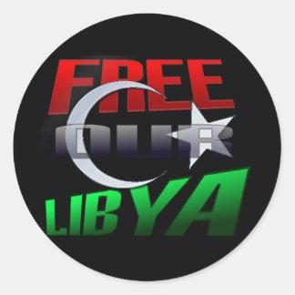 Regalo libre de Libia para los amigos y la familia Pegatina