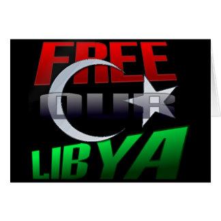 Regalo libre de Libia para los amigos y la familia Tarjeta