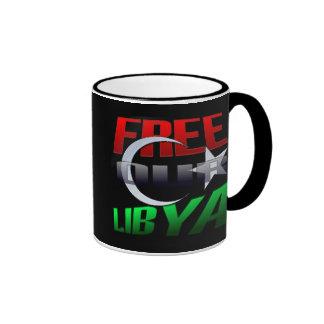 Regalo libre de Libia para los amigos y la familia Taza De Dos Colores