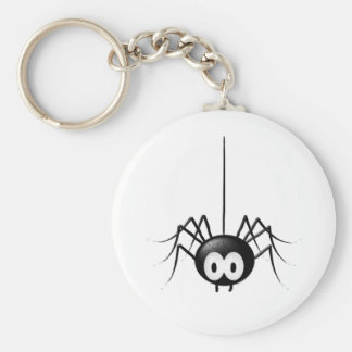 Regalo lindo de Halloween de la araña negra Llavero Redondo Tipo Pin