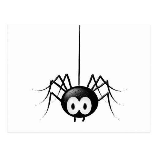 Regalo lindo de Halloween de la araña negra Tarjeta Postal