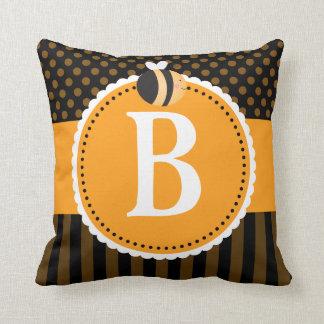 Regalo lindo de la almohada de tiro del monograma cojín decorativo