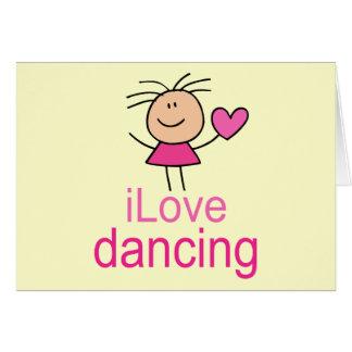 Regalo lindo de la camiseta del baile del amor de  tarjeta de felicitación