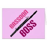 Regalo lindo de la música de Boss del Bassoon Felicitación
