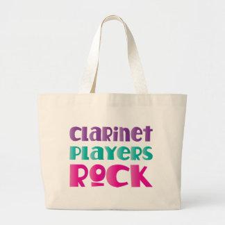 Regalo lindo de la música rock de los jugadores bolsa tela grande