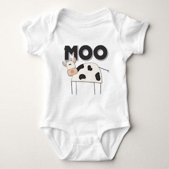 Regalo lindo de la vaca body para bebé