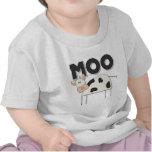 Regalo lindo de la vaca camiseta