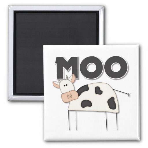 Regalo lindo de la vaca imanes de nevera