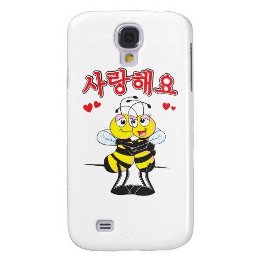 regalo lindo de los amantes de la abeja del 사랑합니다  funda para galaxy s4