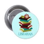 Regalo lindo del bibliotecario de la pila de libro pins