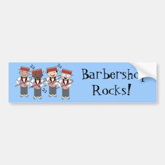 Regalo lindo del cuarteto de la barbería etiqueta de parachoque