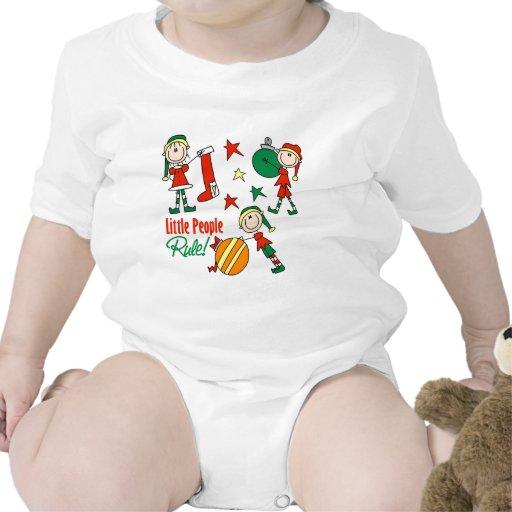 Regalo lindo del duende del navidad trajes de bebé
