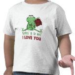 Regalo lindo del el día de San Valentín de los niñ Camisetas