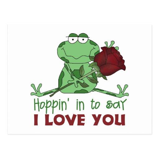 Regalo lindo del el día de San Valentín Tarjetas Postales
