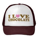 Regalo lindo del gorra del chocolate del amor de I