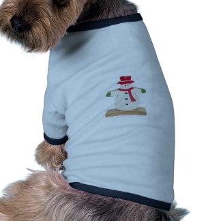 regalo lindo del navidad del muñeco de nieve camisetas mascota