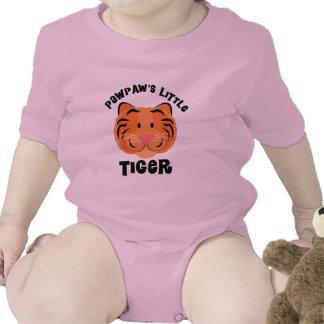Regalo lindo del pequeño tigre de las papayas traje de bebé