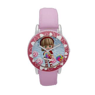 Regalo lindo del reloj del duende del navidad