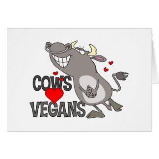 Regalo lindo del vegano tarjeta de felicitación