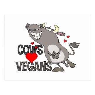 Regalo lindo del vegano postales