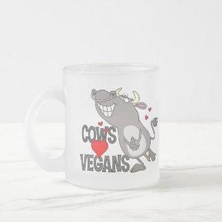 Regalo lindo del vegano taza de cristal