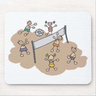 Regalo lindo del voleibol de playa alfombrillas de ratón
