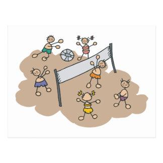 Regalo lindo del voleibol de playa tarjetas postales