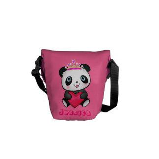 Regalo lindo rosado de princesa Panda Messenger Ki Bolsa Messenger