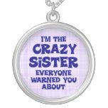 Regalo loco de la hermana joyerias personalizadas