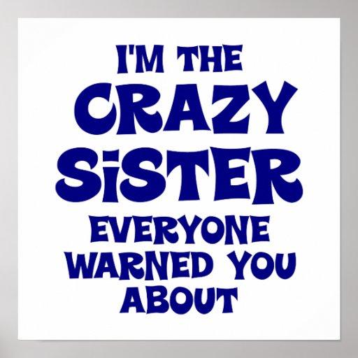 Regalo loco de la hermana impresiones