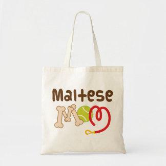 Regalo maltés de la mamá (raza del perro) bolsa tela barata