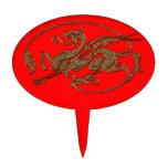 Regalo medieval del diseñador del arte de la antig figura para tarta