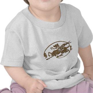 Regalo medieval del diseñador del arte de la antig camiseta