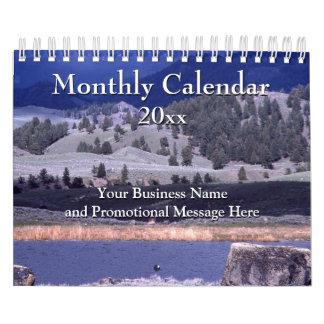 Regalo mensual promocional 2016 de Corporate Logo Calendario De Pared