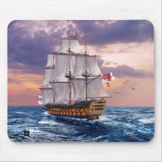 Regalo Mousepads de la pintura del buque insignia