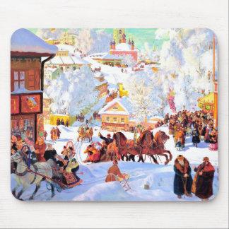 Regalo Mousepads del navidad de la pintura de Tapete De Ratón